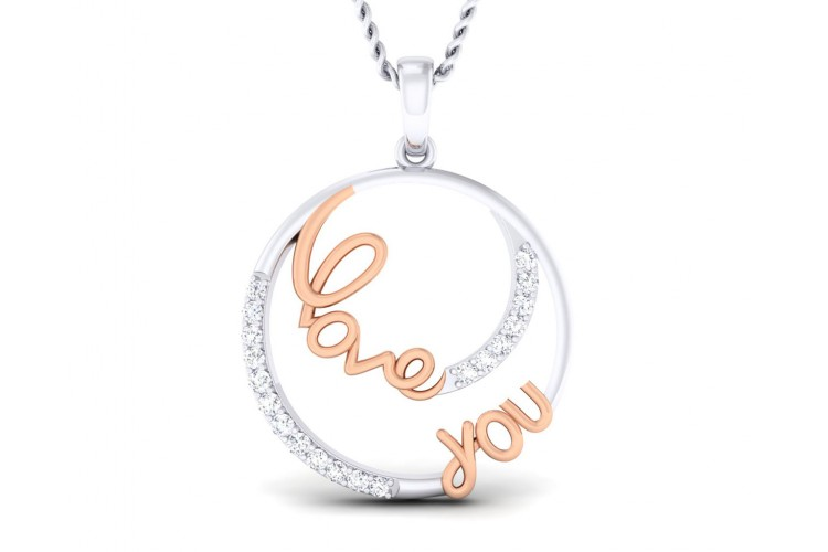Buy love you diamond pendant in gold endear jewellery love you diamond pendant in gold aloadofball Choice Image