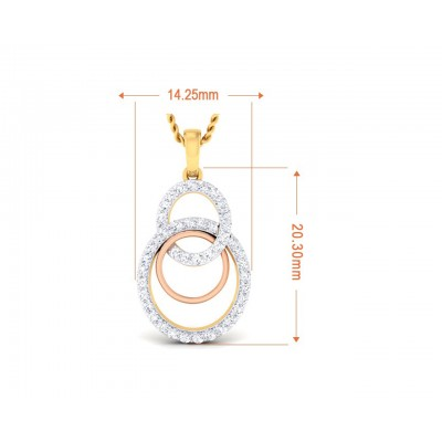 Cerena Diamond Pendant in Gold