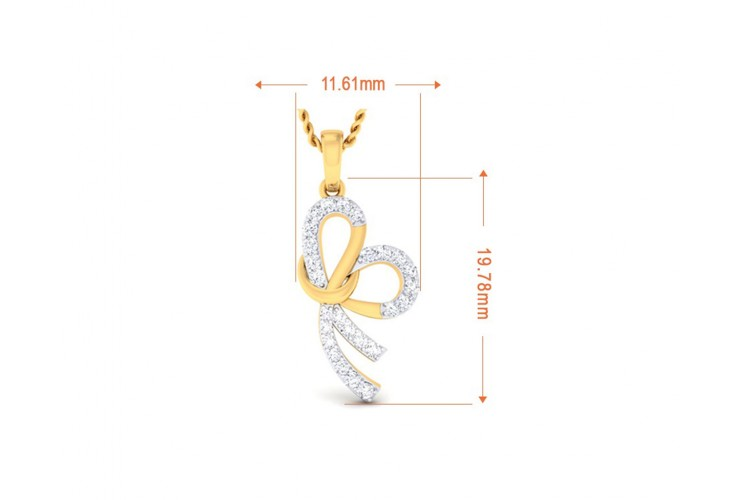 Derin Diamond Pendant in Gold