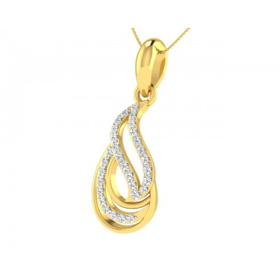 Caylin Diamond Pendant in Gold