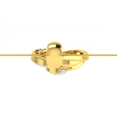 Leza Diamond Pendant in Gold
