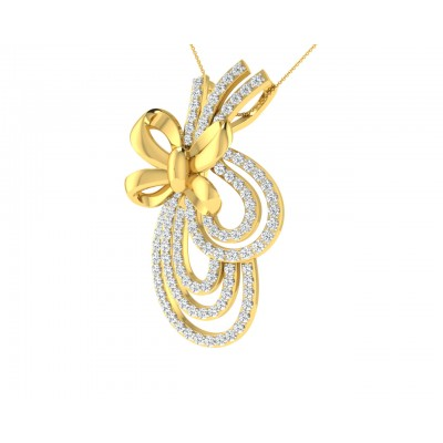 Hali Diamond Pendant In Gold