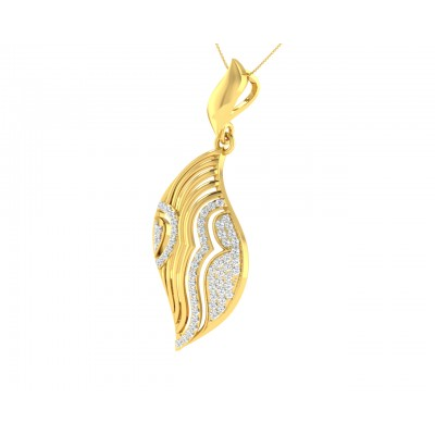Ivanka diamond Pendant in Gold