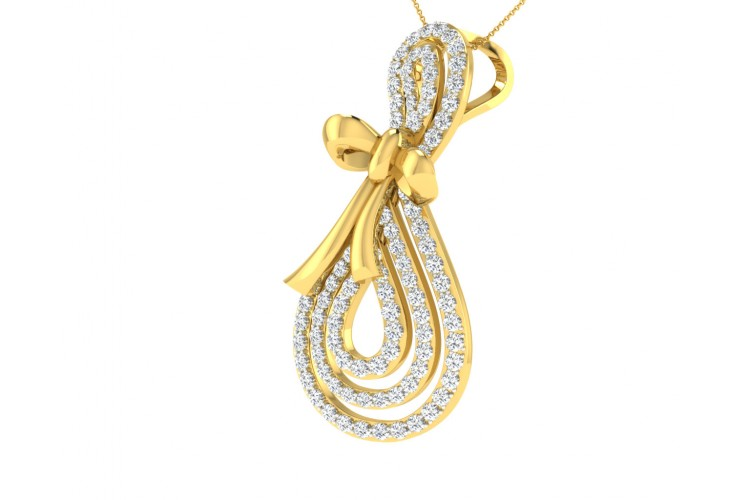 Iriana Diamond Pendant in Gold