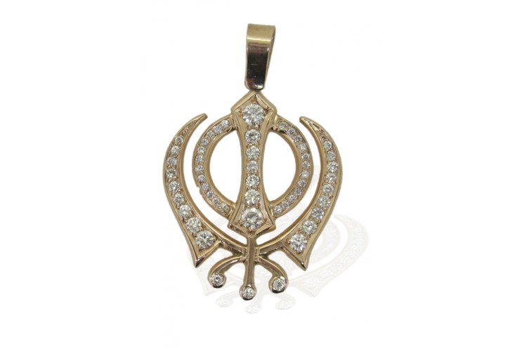 Buy khanda pendant in gold online in india at best price jewelslane khanda pendant in gold mozeypictures Images