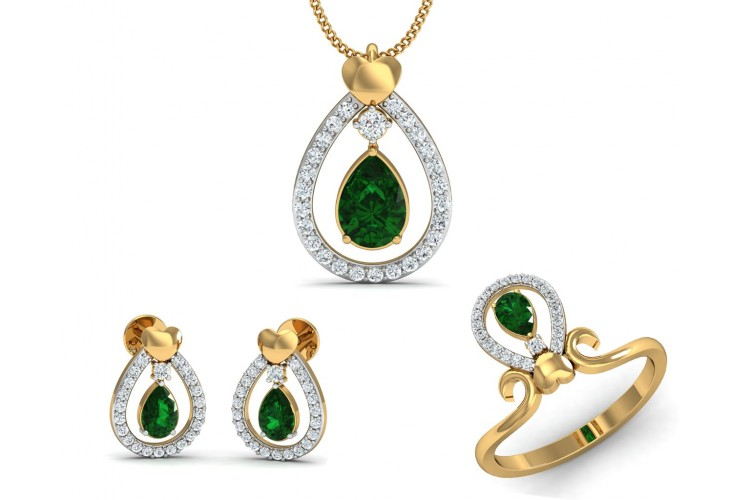 pendants pendant product cut emerald outlet solitaire houston diamond