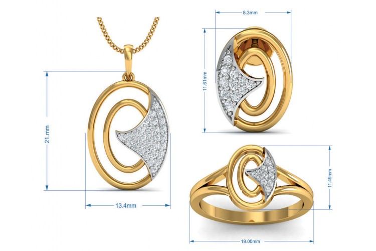 Aarya Diamond Pendant Set