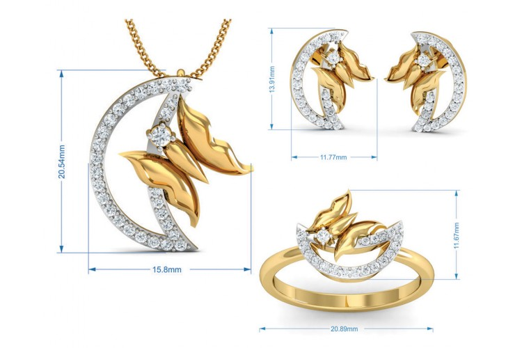 Afni Diamond Pendant Set