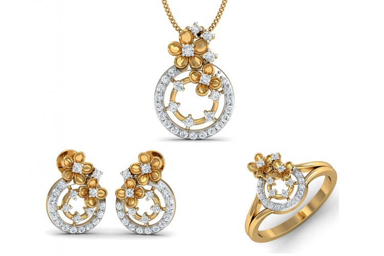 Arnit Diamond Pendant Set