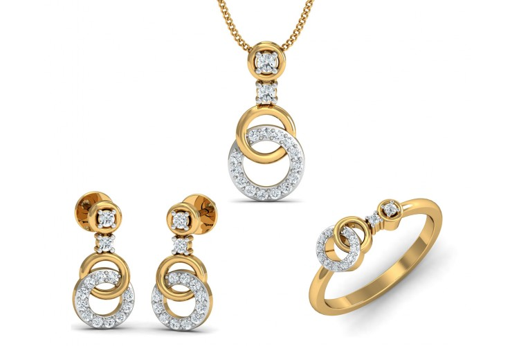 Anishi Diamond Pendant Set