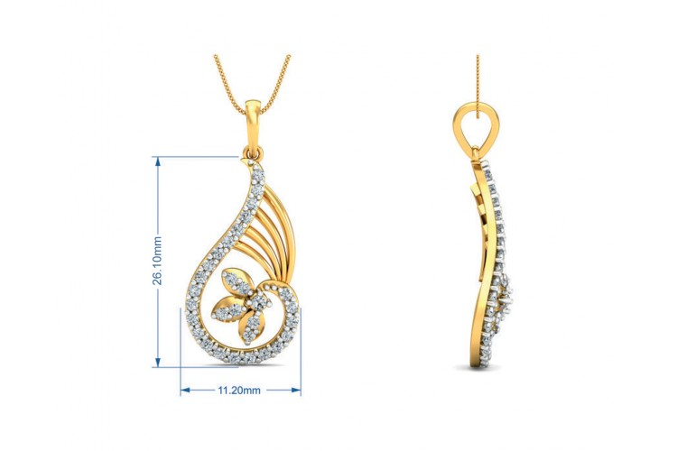 Charvi Designer Diamond Pendant Set
