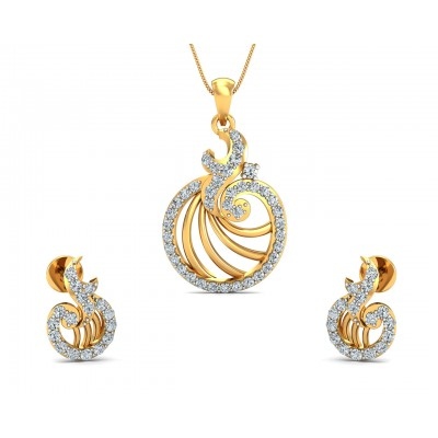 Aini Diamond Earring & Pendant Set