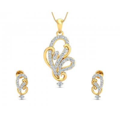 Gina Diamond Earrings & Pendant Set