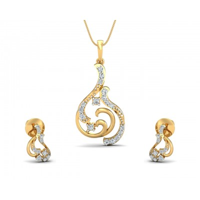 Dovi Diamond Pendant Set