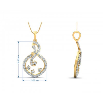 Lea Diamond Pendant & Eartop Set