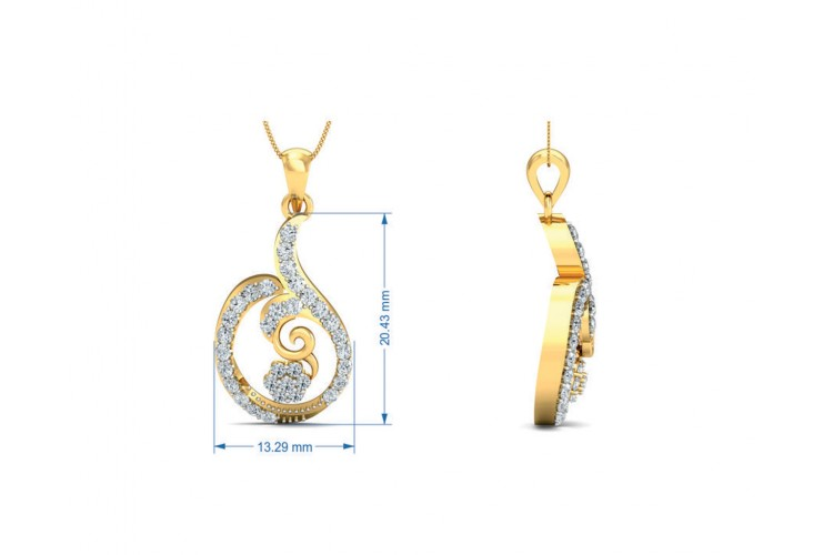 Tania Diamond Pendant Set in Gold