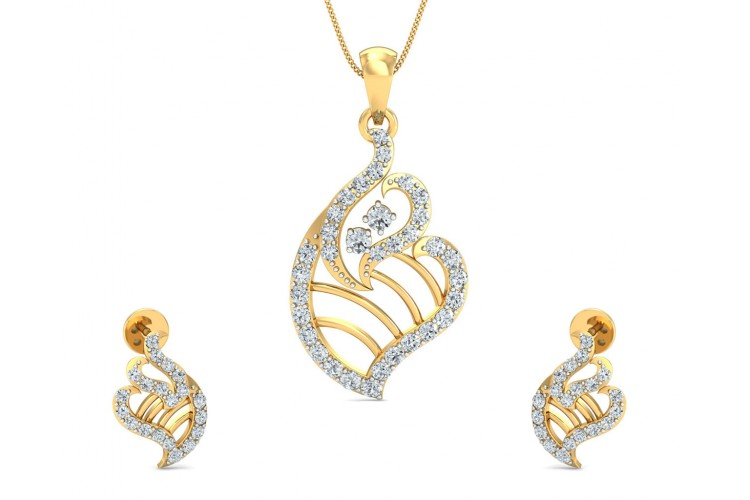 Talia Round Brilliant Diamond Pendant Set