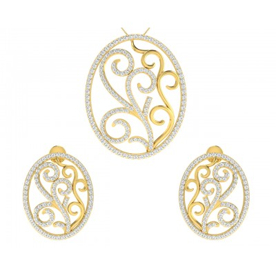 Celeste Diamond Pendant & Earring Set
