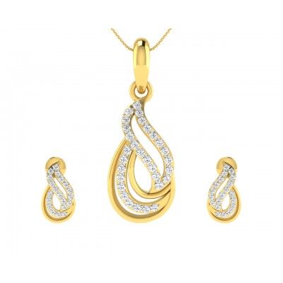 Caylin Diamond Pendant Earrings Set