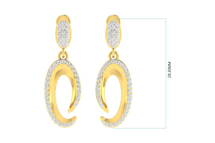 Eeva Diamond Pendant & Earring Set