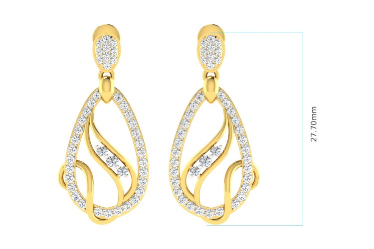 Lyra Diamond  Pendant & Earrings Set