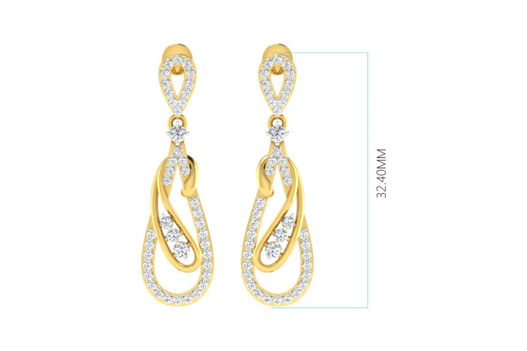 Rene Diamond Pendant & Earrings Set