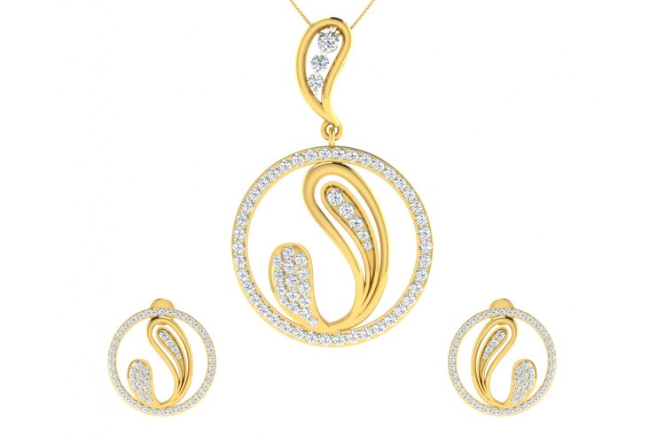 Rainie Diamond Earrings & Pendant Set