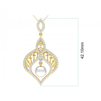 Rina Pearl & Diamond Pendant Set