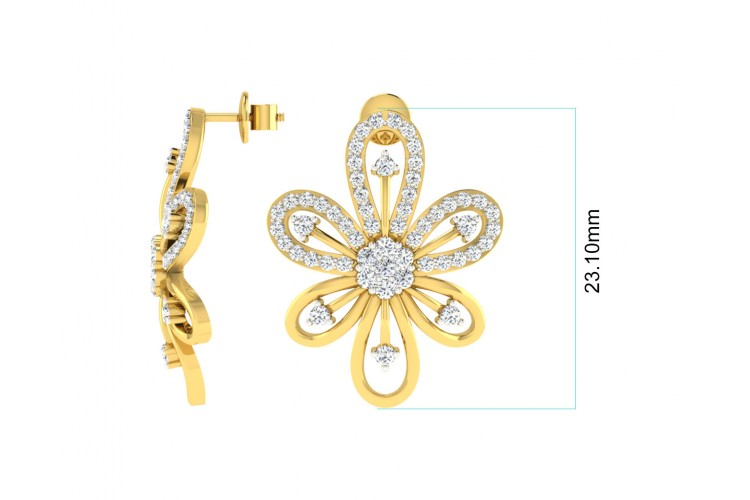 Rhea Diamond Earrings & Pendant Set