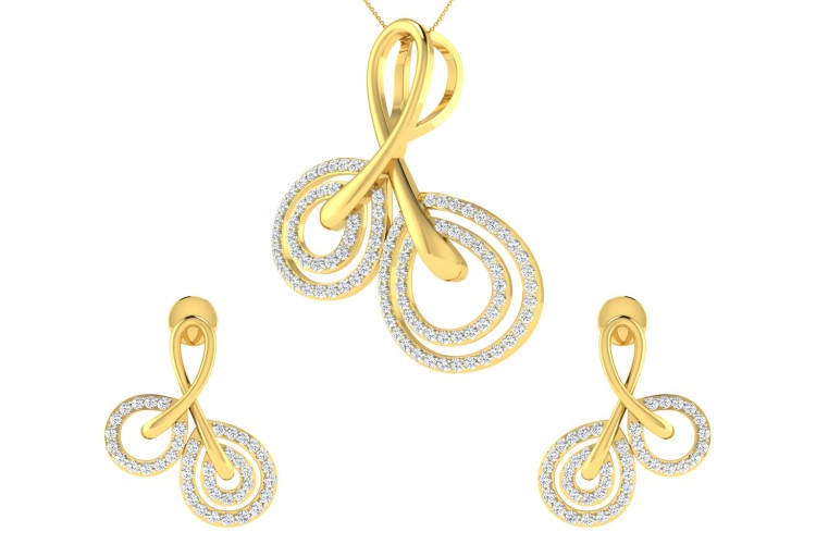 Dian Diamond Pendant & Earrings set