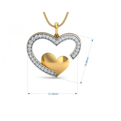 Fiona Diamond Heart  Pendant Earrings & Ring Set