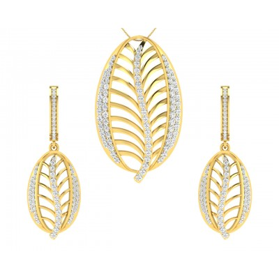 Perry Diamond  Earrings & Pendant  set in Gold