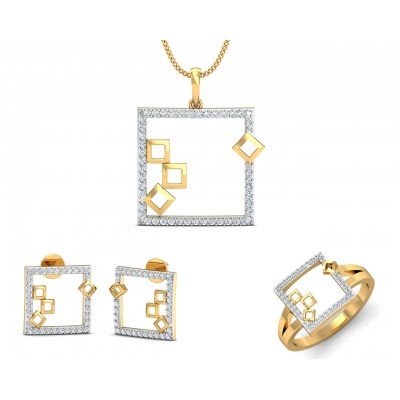 Sabina Gold & Diamond Pendant Set