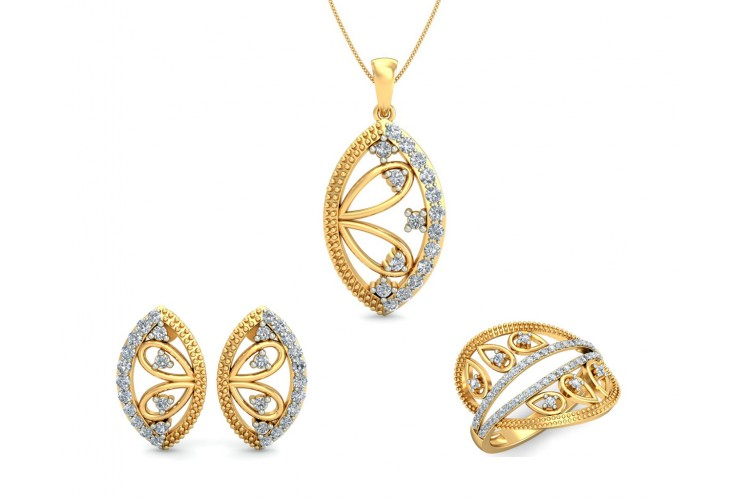 Tara Diamond Pendant set In Gold