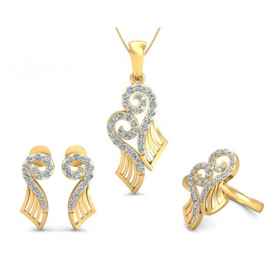 Sana Diamond Pendant set in 14k gold