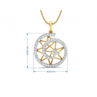 Astra Diamond pendant set in 14k hallmarked Gold
