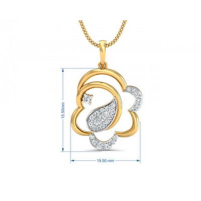 Reya Diamond Pendant, earring ring set In gold
