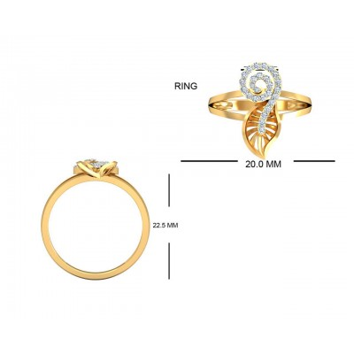 Sama Designer Diamond Pendant, ring & earring set in hallmarked gold
