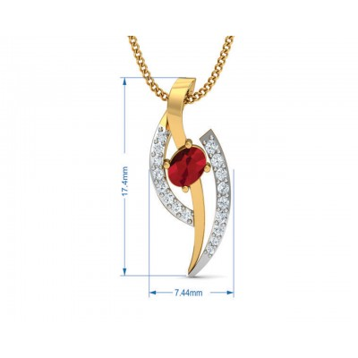 Tory Ruby & Diamond pendant set in Gold
