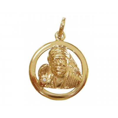 Sai Baba Pendant in Gold