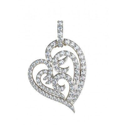 Simply Endearing Diamond Heart Pendant