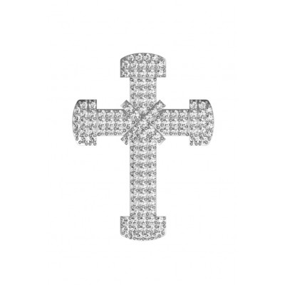 Sparkling Cross pendant with diamonds