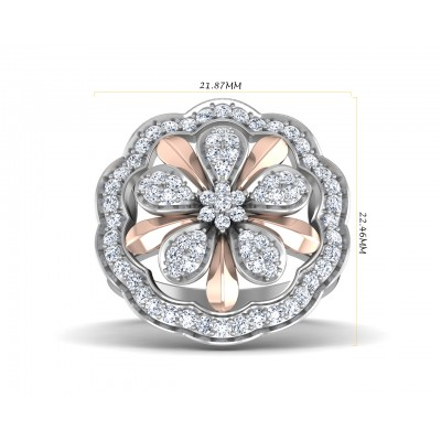 Fara Diamond Floral cocktail ring in 18k gold