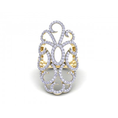 Unika Diamond Cocktail Ring in gold