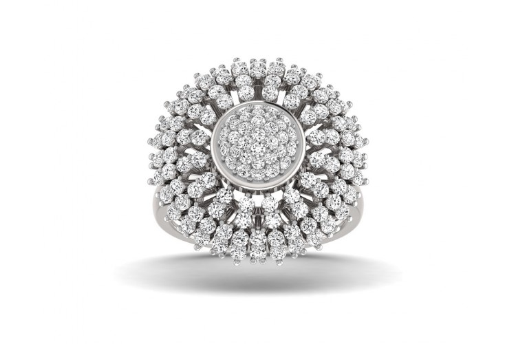 Hedi Conventional Diamond Cocktail ring in Gold