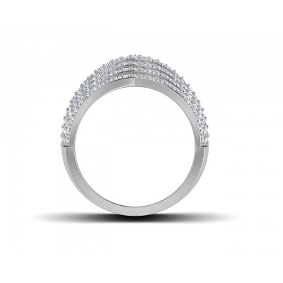 Tracy Wide Diamond Band in 18k gold