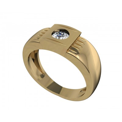Akshay Men's Solitaire Engagement Ring