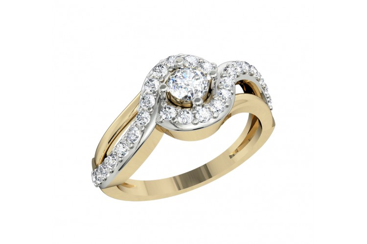 Alluring Diamond solitaire engagement ring