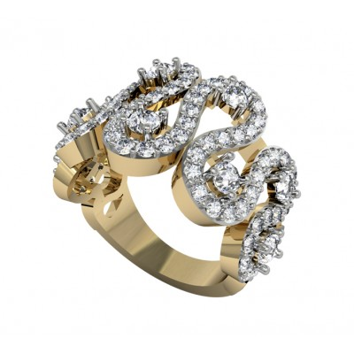 Alluring wide diamond band