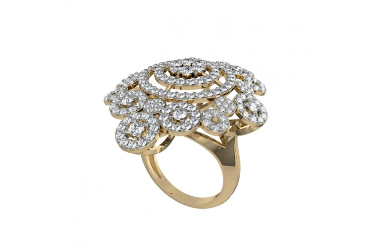 diamond wh cocktail ring gold jewellery carat ladies rings